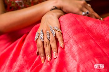 Photo of Striking hand jewellery for engagement