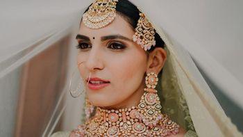 Photo of Bridal jewellery veil shot