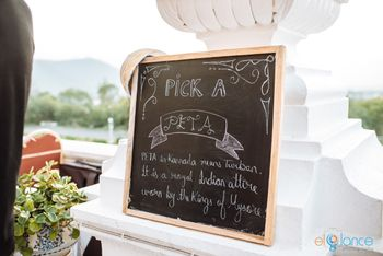 Personalised blackboard quote