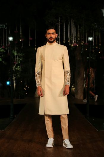 Photo of Embroidered sleeves Sherwani