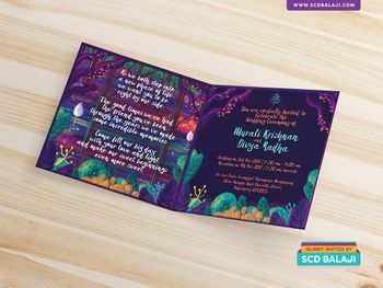 Bright and colorful wedding invitation card!