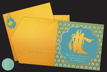 radha krishna motif invitations