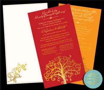 Photo of tree of life invitation cards