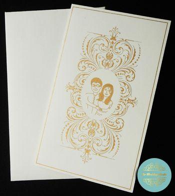 Photo of minimalist invitations