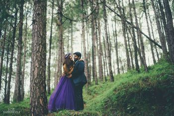 Photo of whimsical pre wedding shoot