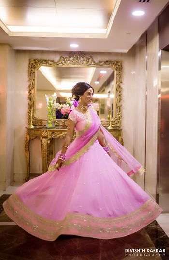 Pretty lehenga in pink