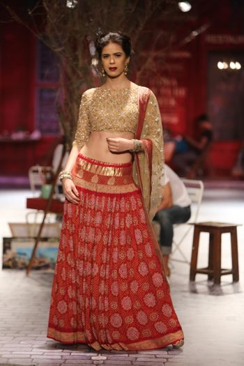 Photo of printed lehenga