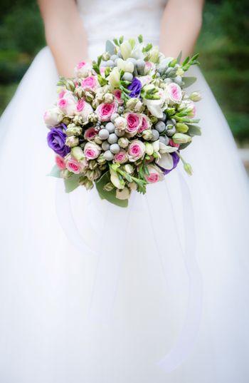 Christian wedding bridal bouquet