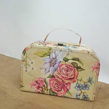 Photo of floral print pouches