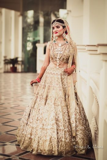 Gold Bridal lehenga inspiration