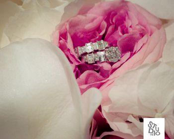 engagement ring with flowers