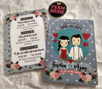 Fun and quirky wedding invitation cards