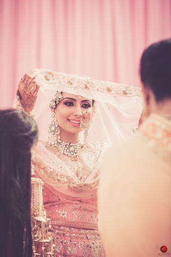 Candid bridal shot