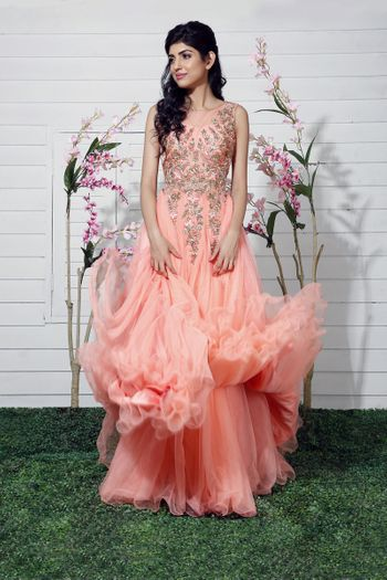 pastel pink gown