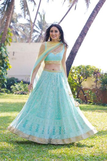 Light lehenga for Mehendi