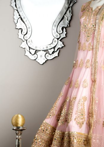 light pink anarkali