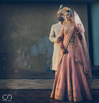 Wedding day couple portrait