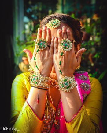 Gota haathphol mehendi jewellery