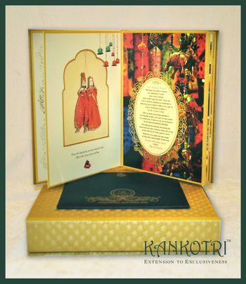 Photo of gold invitations
