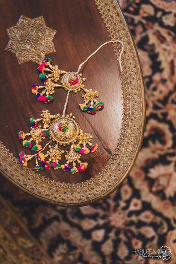 Unique bridal Kaleere with pompoms