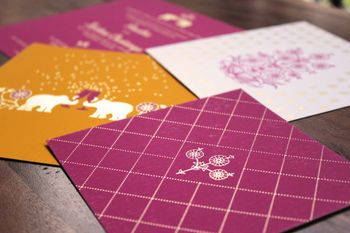 purple wedding cards