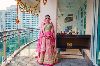 Pretty bride in pink