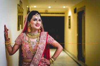 Bride in red shot