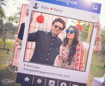 Instagram photobooth prop for mehendi