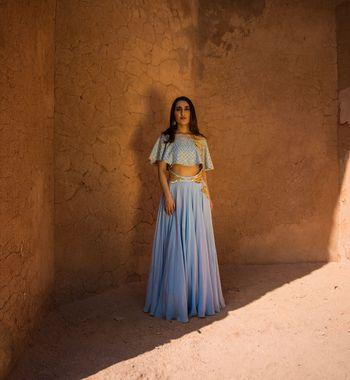 Casual Light blue outfit by Mahima Mahajan