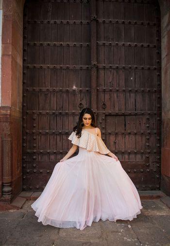 White and gold Mahima Mahajan Outfit