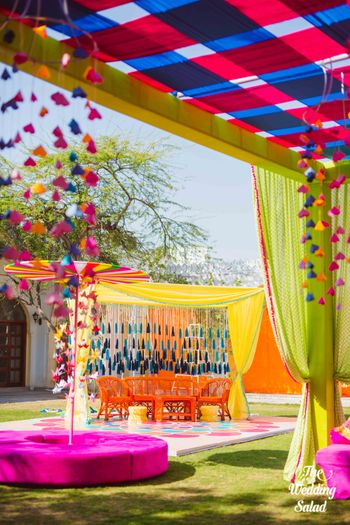 Photo of  colorful mehendi decor