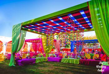 Bright and colorful Mehendi decor