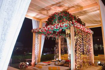 Photo of Floral mandap decor