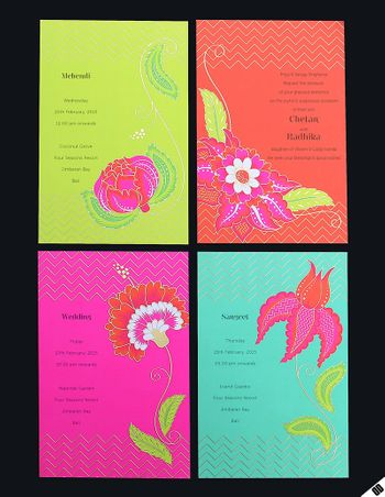 Photo of wedding invites