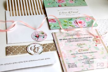 Photo of vintage floral invites