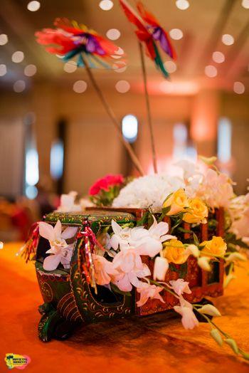 Unique floral table centerpiece
