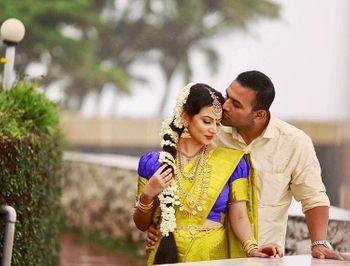 Romantic south indian couple shot