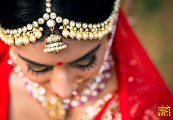 Unique bridal mathapatti