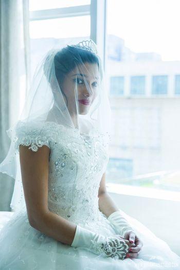 Christian bride portrait