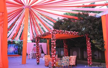 Tent and mandap decor idea