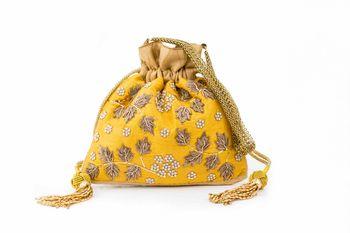 yellow bridal clutch