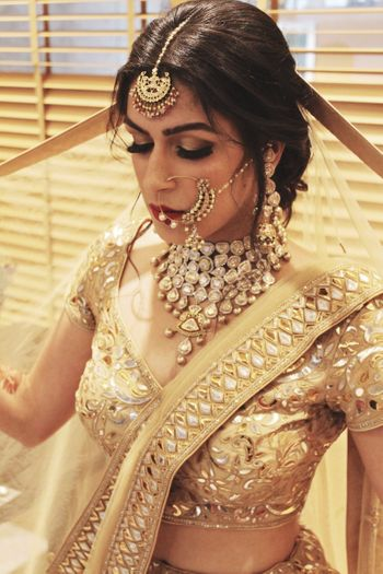 Gold and pearl bridal jewellery