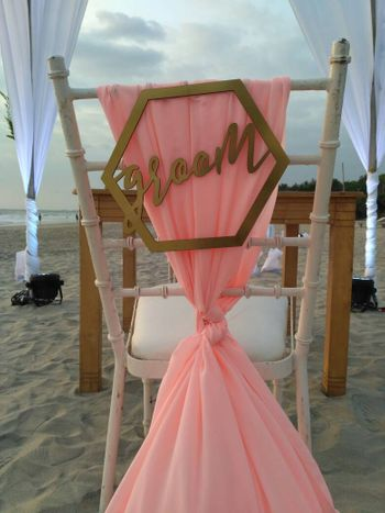 Chair decor idea with groom written on back