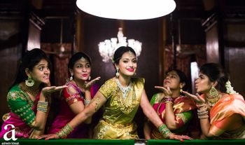 Photo of South indian bride with bridesmaids
