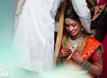 Photo of South Indian bride candid shot
