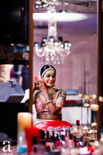 bride getting ready shot