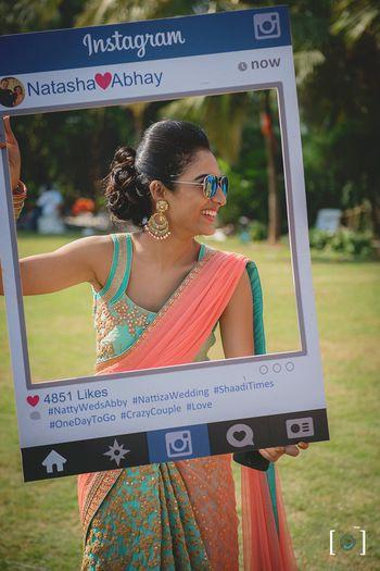 Instagram photobooth idea for mehendi