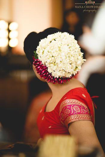 Gajra bun for bridal hairstyle
