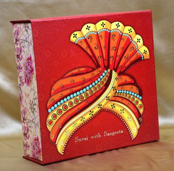 Wedding box idea with unique pagri design