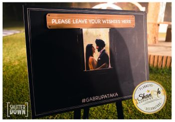 Chalkboard for guests to leave message for the couple